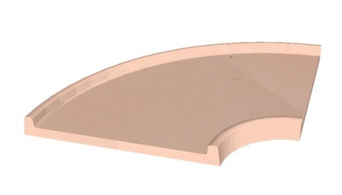Minigolf---Elément-de-piste-courbe