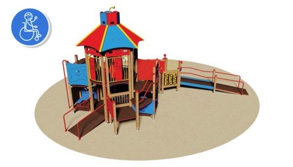 Balancoire-PMR-Fun-city|VILLAGE FUN CITY AIRE DE JEUX POUR HANDICAPE PMR ENFANT ADO