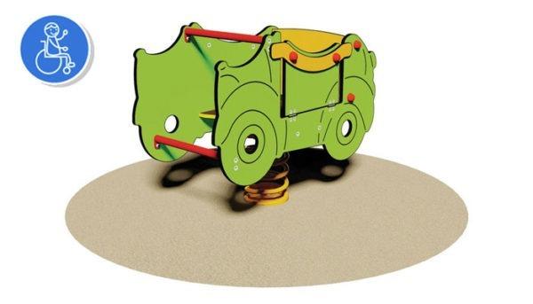 Balancoire-PMR-Green-car|JEU SUR RESSORT PMR GREEN CAR POUR ENFANT HANDICAPE