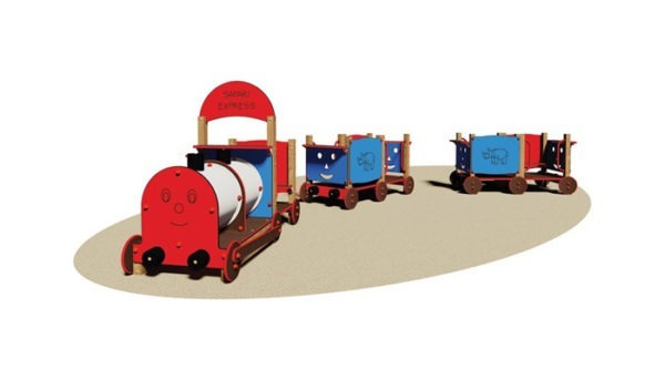 PETIT TRAIN SAFARI EXPRESS POUR AIRE DE JEUX COLLECTIVE