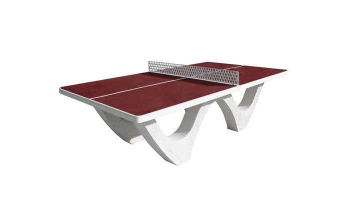 Table ping pong rouge