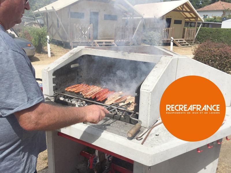 Barbecue Collectif En Action